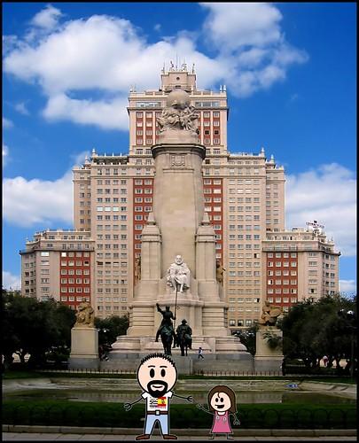 LostInBrittany dans la Plaza de España