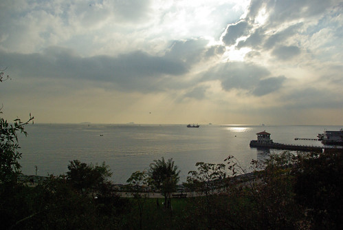 Marmara sea, Moda shore and Moda port, Istanbul, pentax k10d