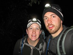Hiking in Headlamps