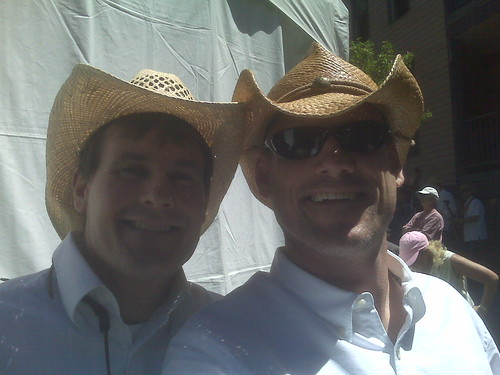Mark / Rut Backstage at Telluride Bluegrass Competition