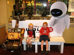 Jake & Joey with Wall*E & Eve