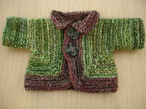 BSJ in handspun for baby Michael