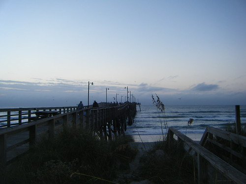 The Jolly Roger pier just before dawn.
