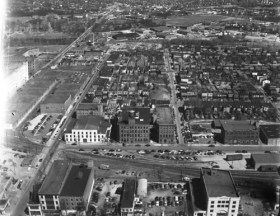 Unidentified aerial view, Richmond- photo from Library of Congress, via Flickr (Creative Commons)