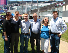 Rod & Vanda Lancour at the Googleplex with the Googlers