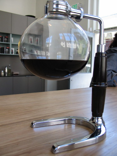 siphon coffee arrives! it's really strong