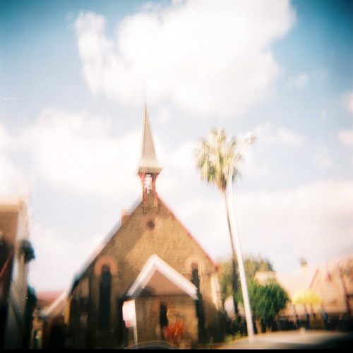 Kirribilli church (on Holga)