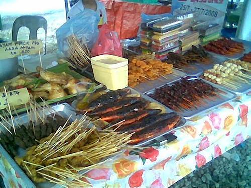 Sibu Ramadhan stall - satay and stuff