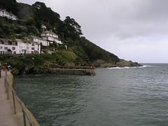 Polperro, a fishing village in Cornwall, UK.