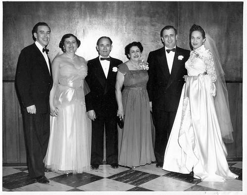 Marvin-Lucielle Nixon, Sam - Rose Neuman, Bill - Jewel Neuman - Dec 1952.jpg
