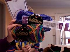 Noro sockk yarn and KP needles