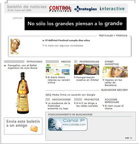 Banner de La Caseta de Juan Leon en el boletin del Grupo Control
