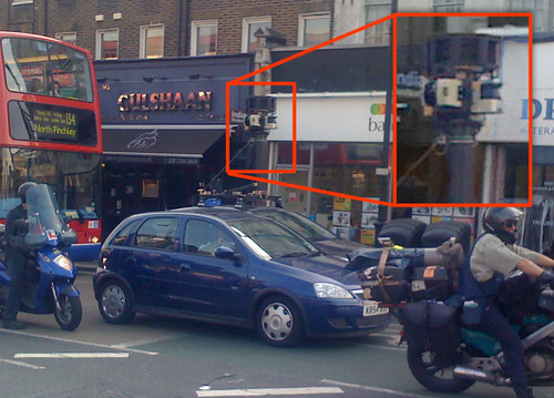 Google street view car driving in Kentish Town