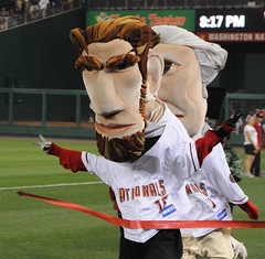 Washington Nationals racing president Abe Lincoln