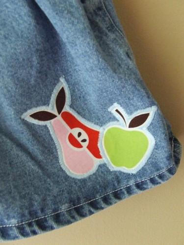 apples/pears applique