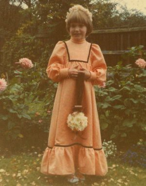 as a bridesmaid to my uncle in 1978