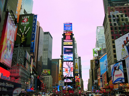 Times Square, NYC, Nov 29 2008 by you.