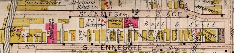 Map Uncle Charles Hotel