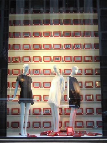 Etch-A-Sketch Bergdorf Goodman Window Display