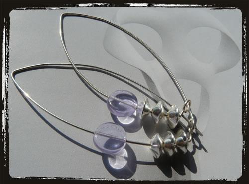 Orecchini fatti a mano lilla - Lilac Handmade Earrings  MEHCLIL