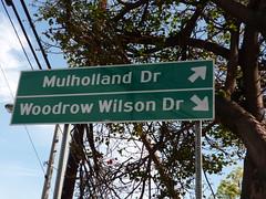 Road sign, LA