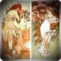 Primavera y verano 1896. Alphonse Mucha.