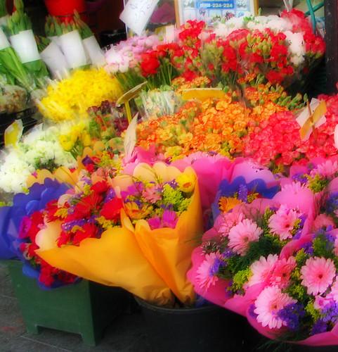 Flowers in Mahane Yehuda, Jerusalem