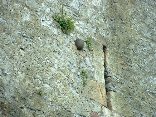 Cannonball in wall