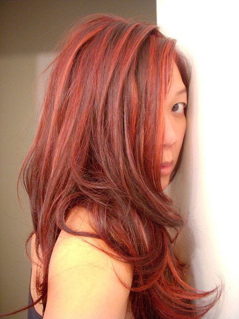 hair color has to changehahahaI'm luvin' the Red Highlights with a
