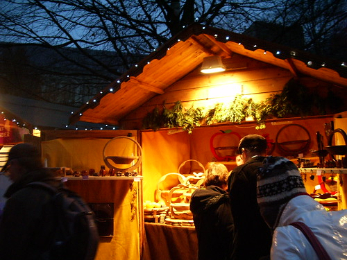 Christmas market hut