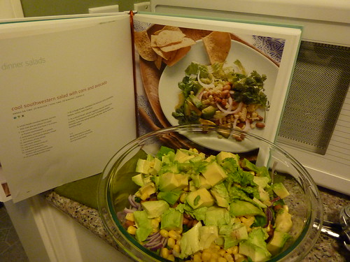 Southwestern Salad with cumin & avocado