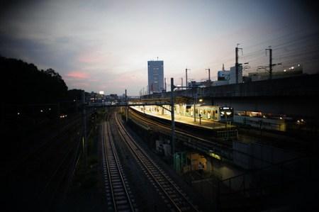 王子駅の夕焼け(トイカメラ)