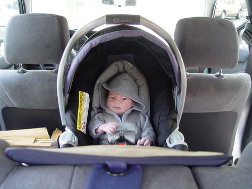 Steven in car seat