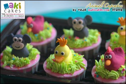 Animal Cupcakes - Maki Cakes