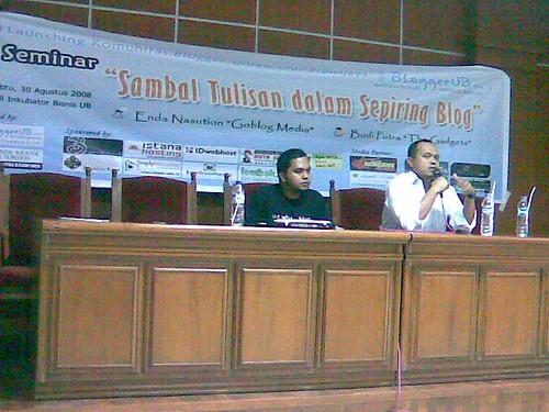 Enda Nasution with Budi Putra