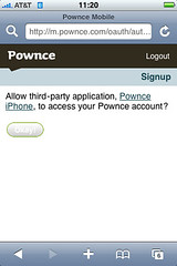 Pownce OAuth flow Step 3