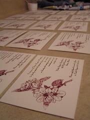 invitations drying