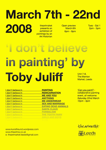 Toby Juliff exhibition poster