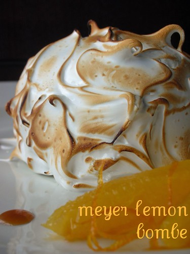 meyer lemon ice cream bombe