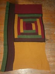 Log Cabin Blanket - First Side Panel Complete