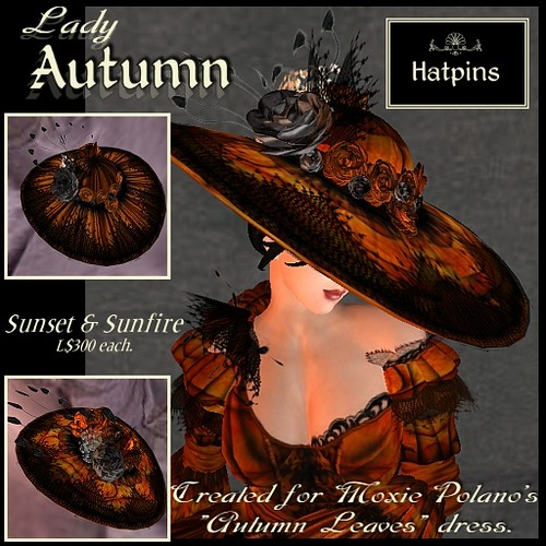 Created exclusively for Moxie Polano, for her Autumn Leaves dress.