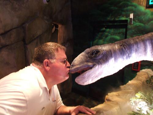 LanceAround Kissing a Dinosaur