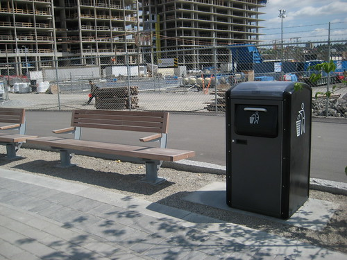New benches and BigBelly in Southeast False Creek