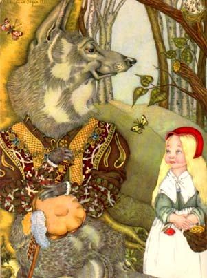 Caperucita Roja según los Hermanos Grimm. (3/6)