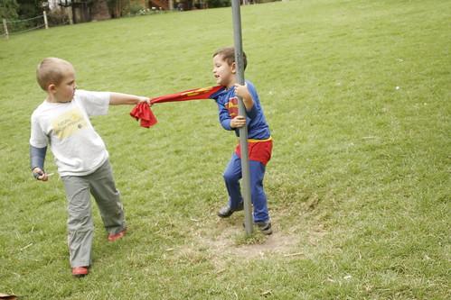 Superman Superboy Super trouble by hyperscholar