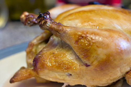 It's surprisingly difficult to photograph a roast chicken