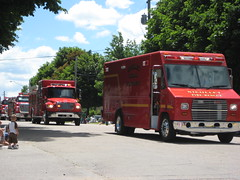 Nicollet Parade fire trucks