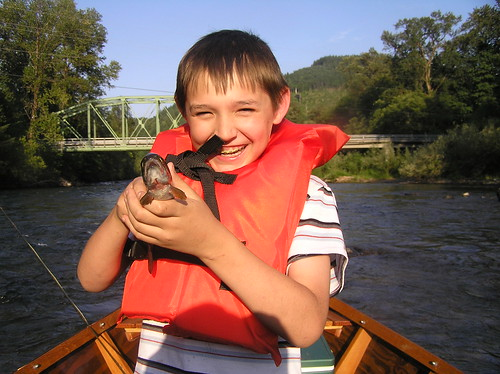 Jaden and a Rainbow Trout