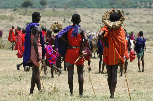 Masai initiation rite ceremony