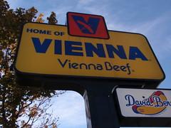Vienna Beef Sign